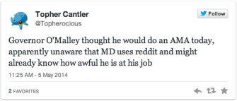 O'Malley's Reddit FAIL