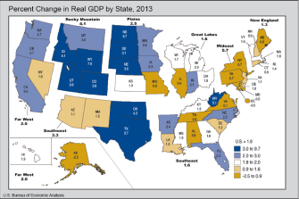 Maryland Had Zero Percent GDP Growth in 2013