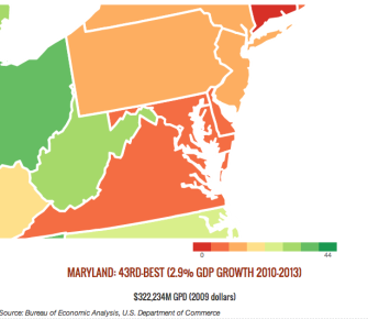 Maryland Generated Just 2.9 Percent GDP Growth 2010-2013