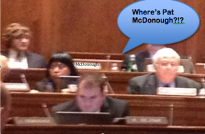 Pat McDonough was MIA on Friday
