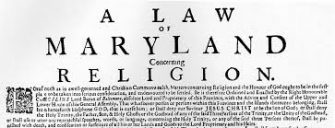 Maryland and Religious Toleration
