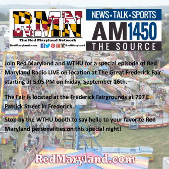 Join Red Maryland and WTHU at the Great Frederick Fair