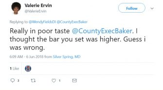 Valerie Ervin Duped by Parody Account, Twice.